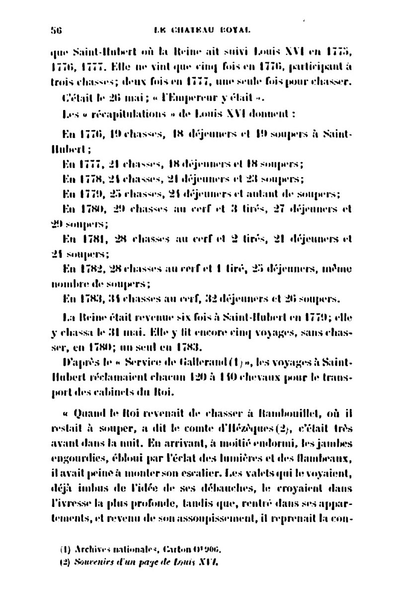 Saint-Hubert, château royal délaissé par Louis XVI 2_le_c10