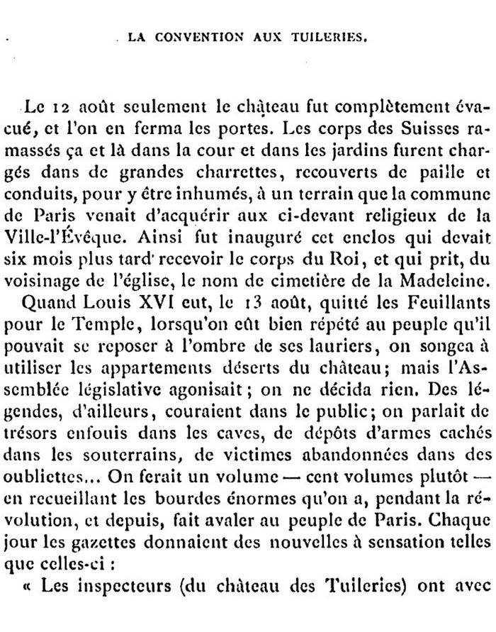 Ventes aux enchères des effets et mobiliers des Tuileries après les pillages du 10 août 1792 314