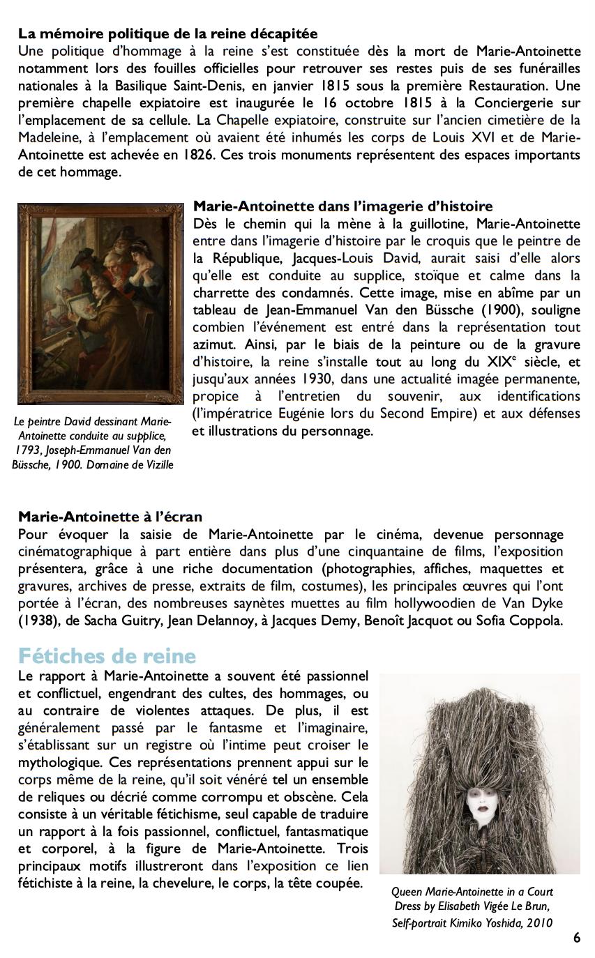 Exposition à la Conciergerie : Marie-Antoinette, métamorphoses d'une image  319