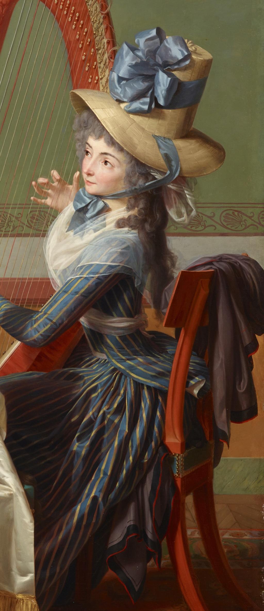 La leçon de harpe. Du peintre Jean-Antoine-Théodore Giroust 37580513