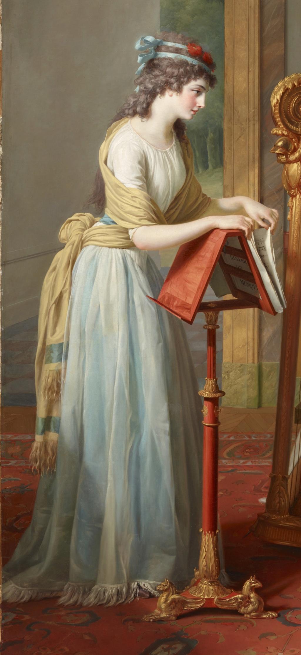 La leçon de harpe. Du peintre Jean-Antoine-Théodore Giroust 37580514