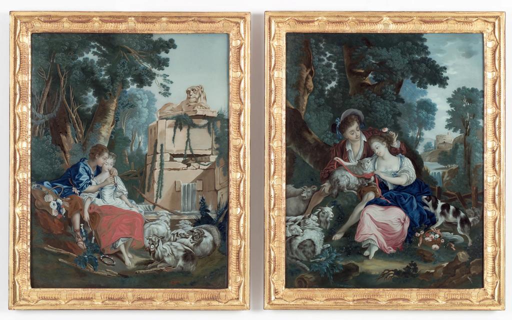 La peinture sous / sur verre chinoise au XVIIIe siècle 40610