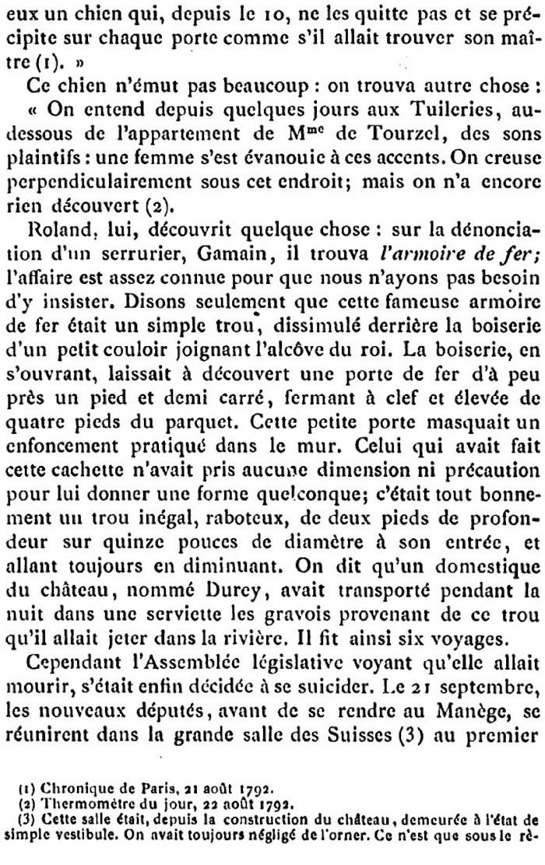 Ventes aux enchères des effets et mobiliers des Tuileries après les pillages du 10 août 1792 410