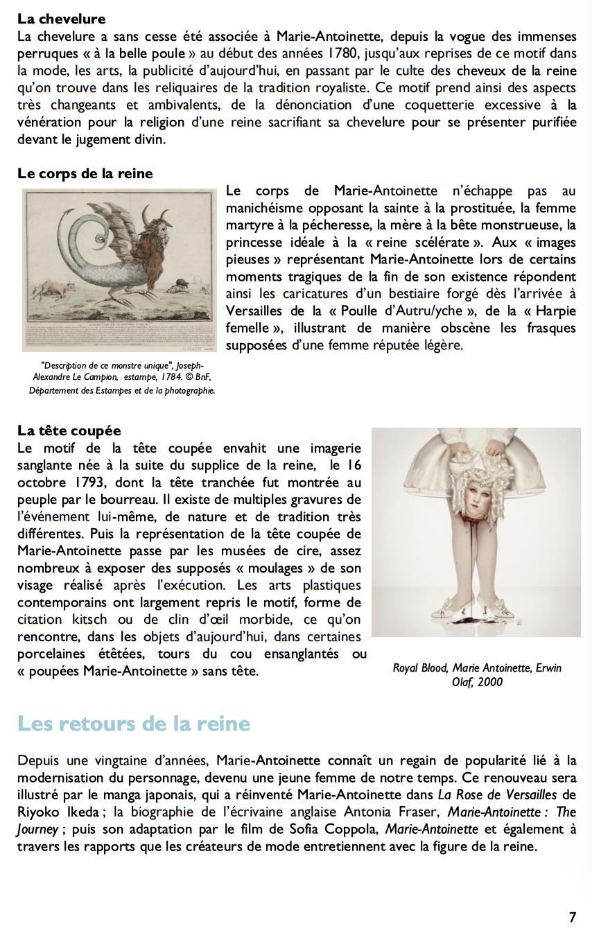 Exposition à la Conciergerie : Marie-Antoinette, métamorphoses d'une image  416