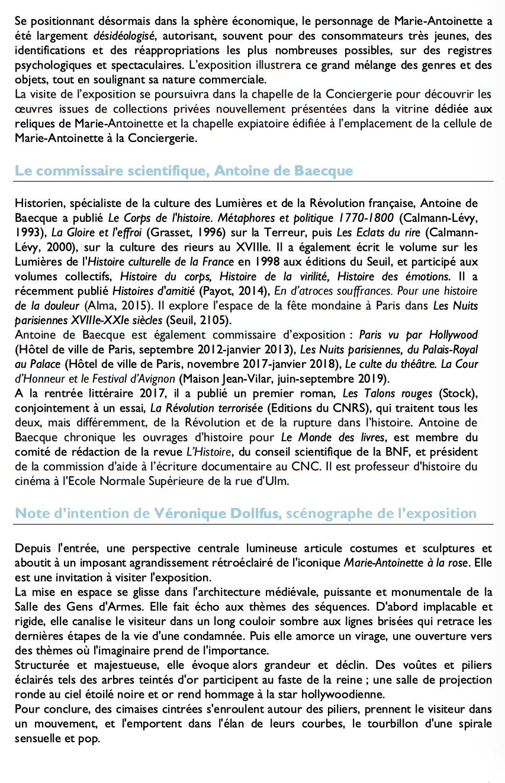 Exposition à la Conciergerie : Marie-Antoinette, métamorphoses d'une image  614