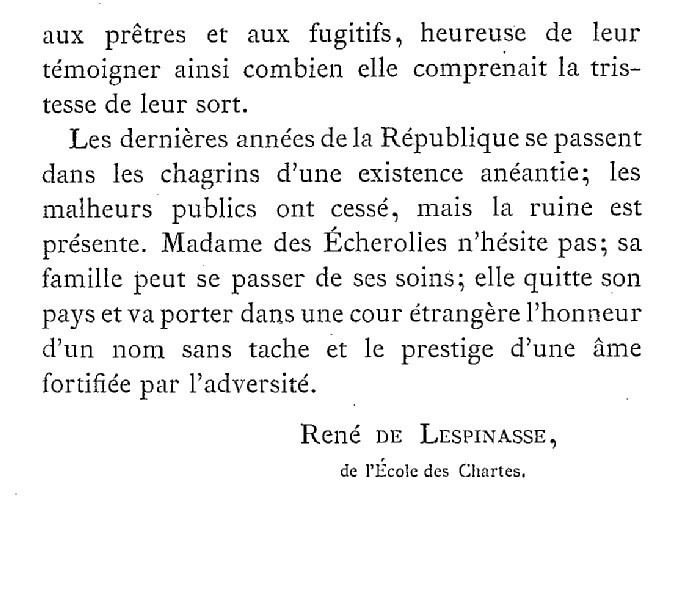 Une famille noble sous la Terreur,  (Mémoires) d'Alexandrine des Écherolles 618