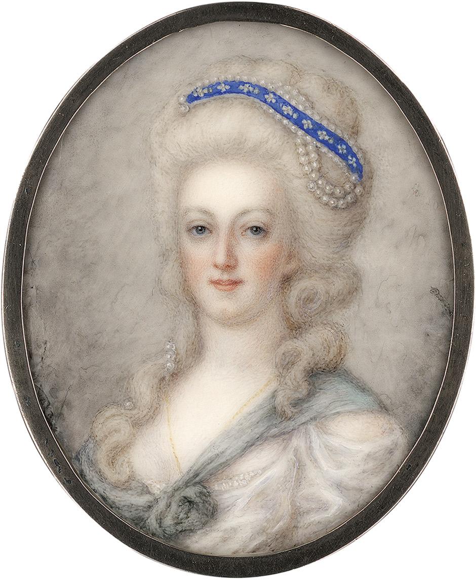 Divers portraits de Marie-Antoinette : miniatures du XVIIIe siècle (dont artistes non attribués) - Page 4 6474a11