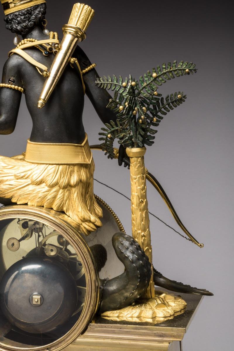 """Les pendules dites """"Au bon sauvage"""" et les créations de Jean-Simon Deverberie : L'Afrique et l'Amérique 65_1310"""