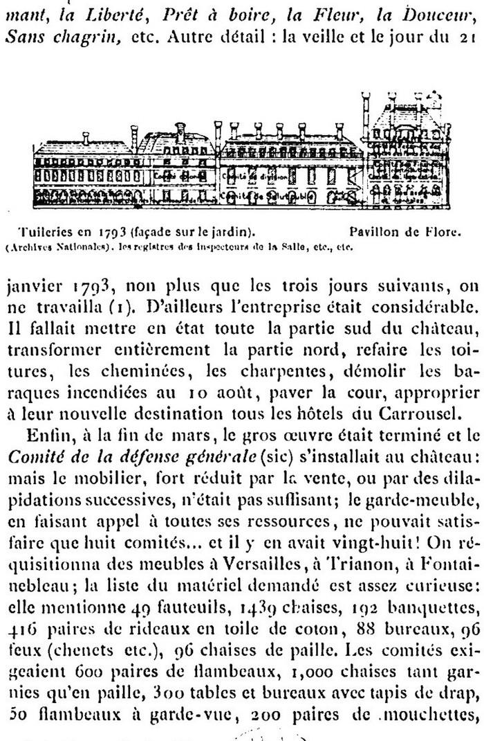 Ventes aux enchères des effets et mobiliers des Tuileries après les pillages du 10 août 1792 710