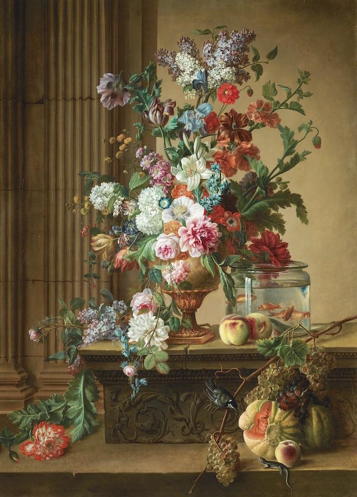 La peinture des fleurs : Sophie de Fuligny-Damas, marquise de Grollier 711n0810