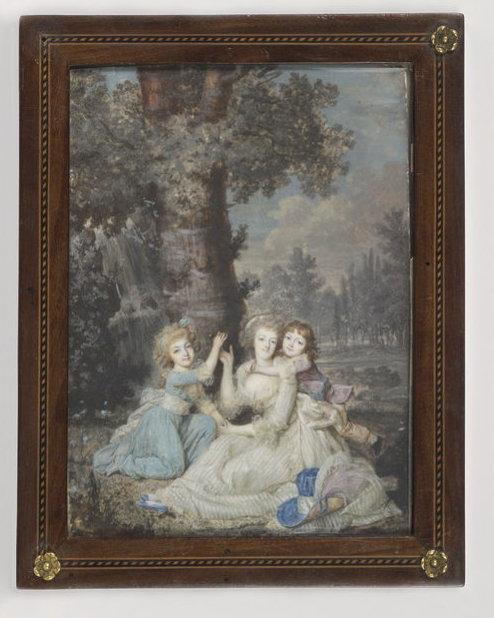 Dumont - Marie Antoinette, miniatures attribuées à ou d'après François Dumont 768-210