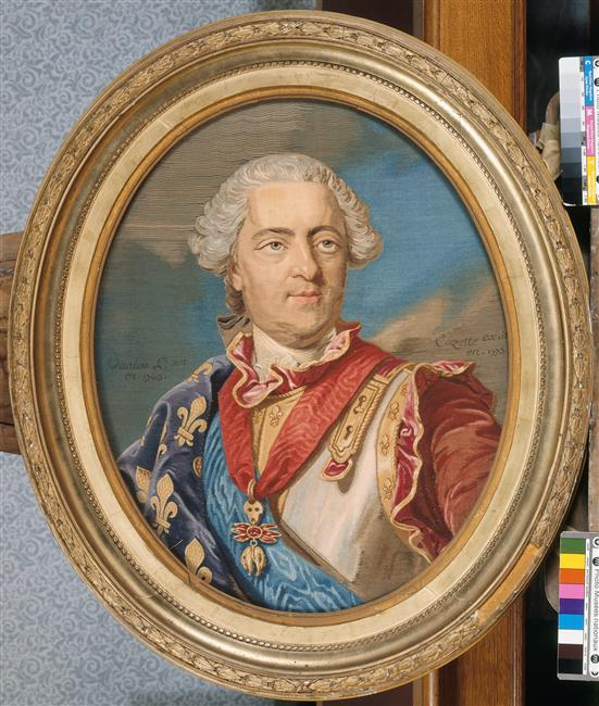 Tapisseries des Gobelins, atelier Cozette : collection de portraits, dont ceux de Marie-Antoinette 80-00010