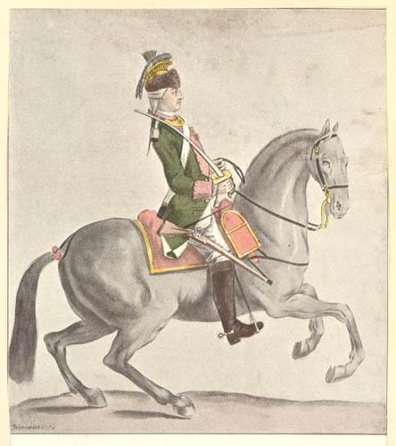 Série d'estampes : portraits équestres de Robin de Montigny  81767610