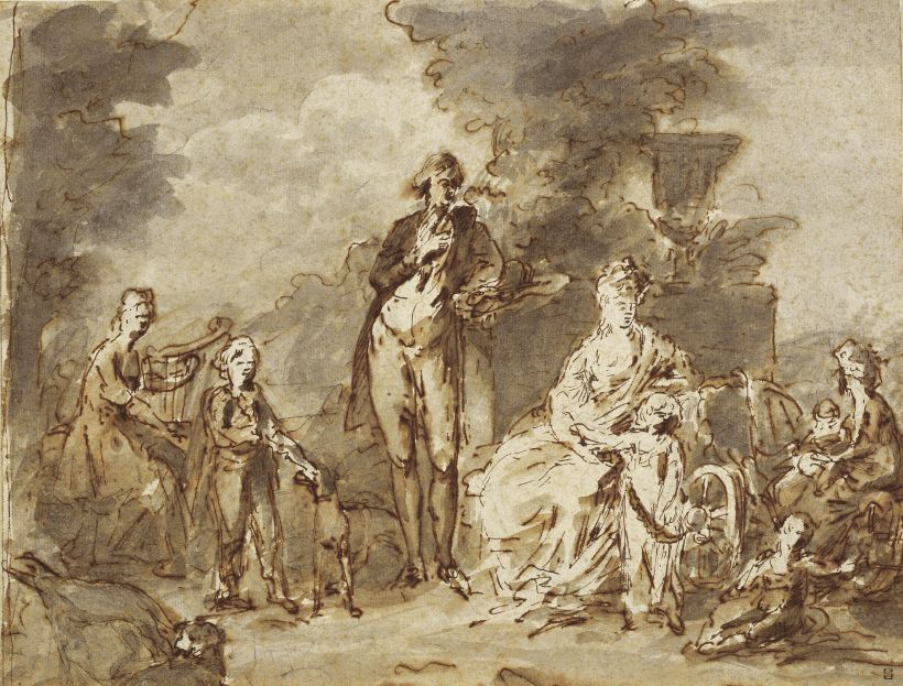Portraits du roi Ferdinand IV et de la reine Marie-Caroline par Angelica Kauffmann 92201910