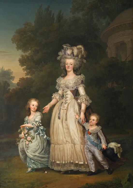 Portrait de Marie-Antoinette et ses enfants, d'Eugène Battaille, d'après Wertmüller Adolf_10