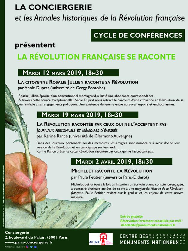 Conférences et expositions à la Conciergerie, Paris Affich10