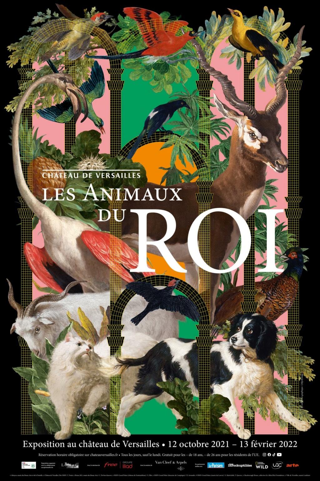 """Exposition """"Les animaux du Roi"""" au château de Versailles Affich22"""