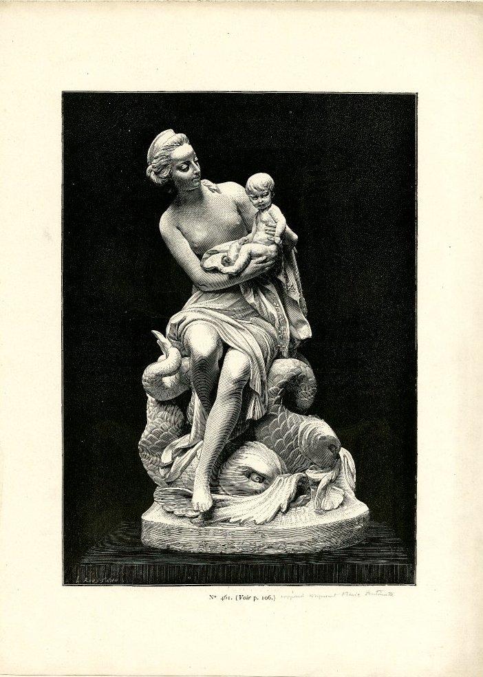 Marie-Antoinette, allégorie de la naissance du dauphin, par et d'après Augustin Pajou An013810