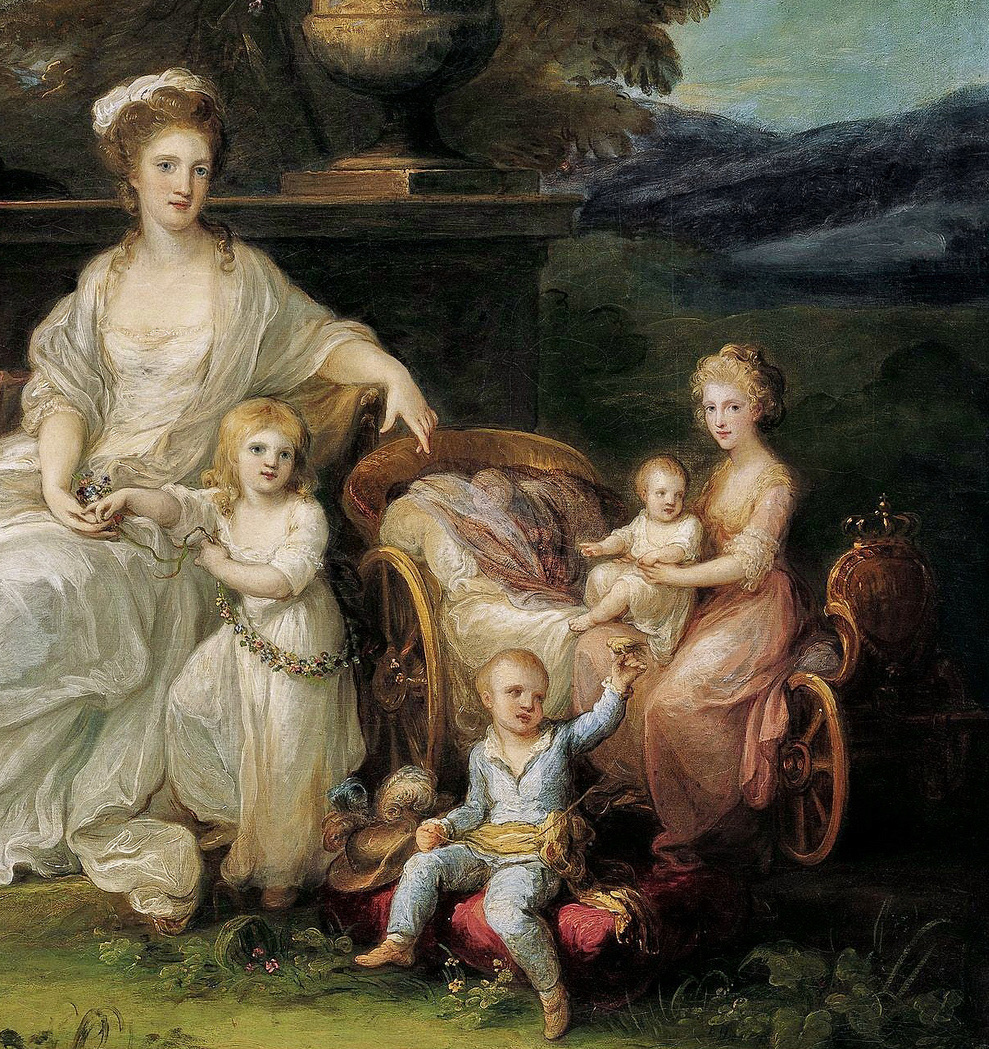 Portraits du roi Ferdinand IV et de la reine Marie-Caroline par Angelica Kauffmann Angeli14