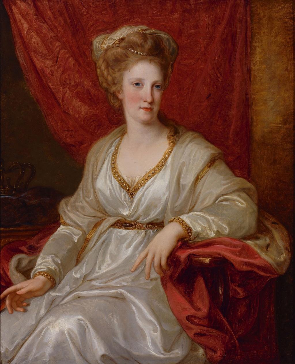 Portraits du roi Ferdinand IV et de la reine Marie-Caroline par Angelica Kauffmann Angeli15
