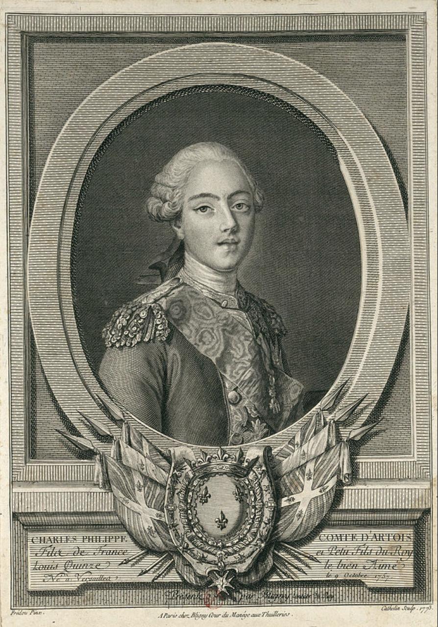 Portraits de Marie-Antoinette et de la famille royale, par Jean-Martial Frédou - Page 2 Artois10