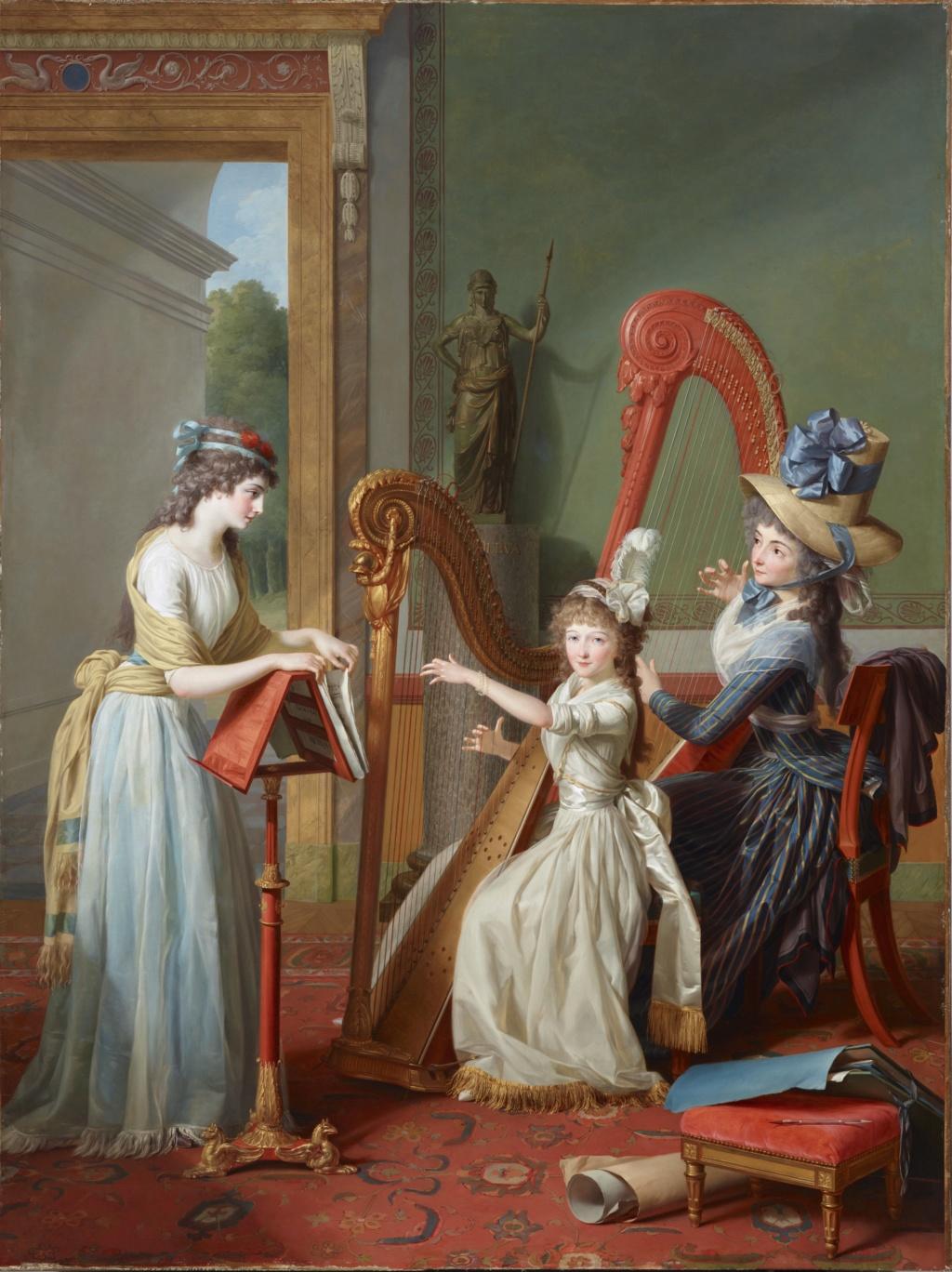 La leçon de harpe. Du peintre Jean-Antoine-Théodore Giroust B14