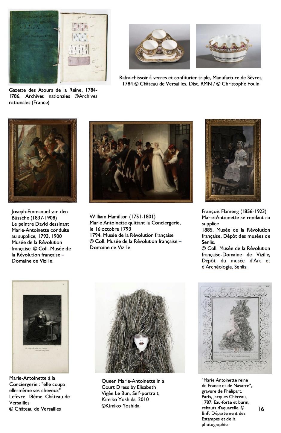 Exposition à la Conciergerie : Marie-Antoinette, métamorphoses d'une image  B16