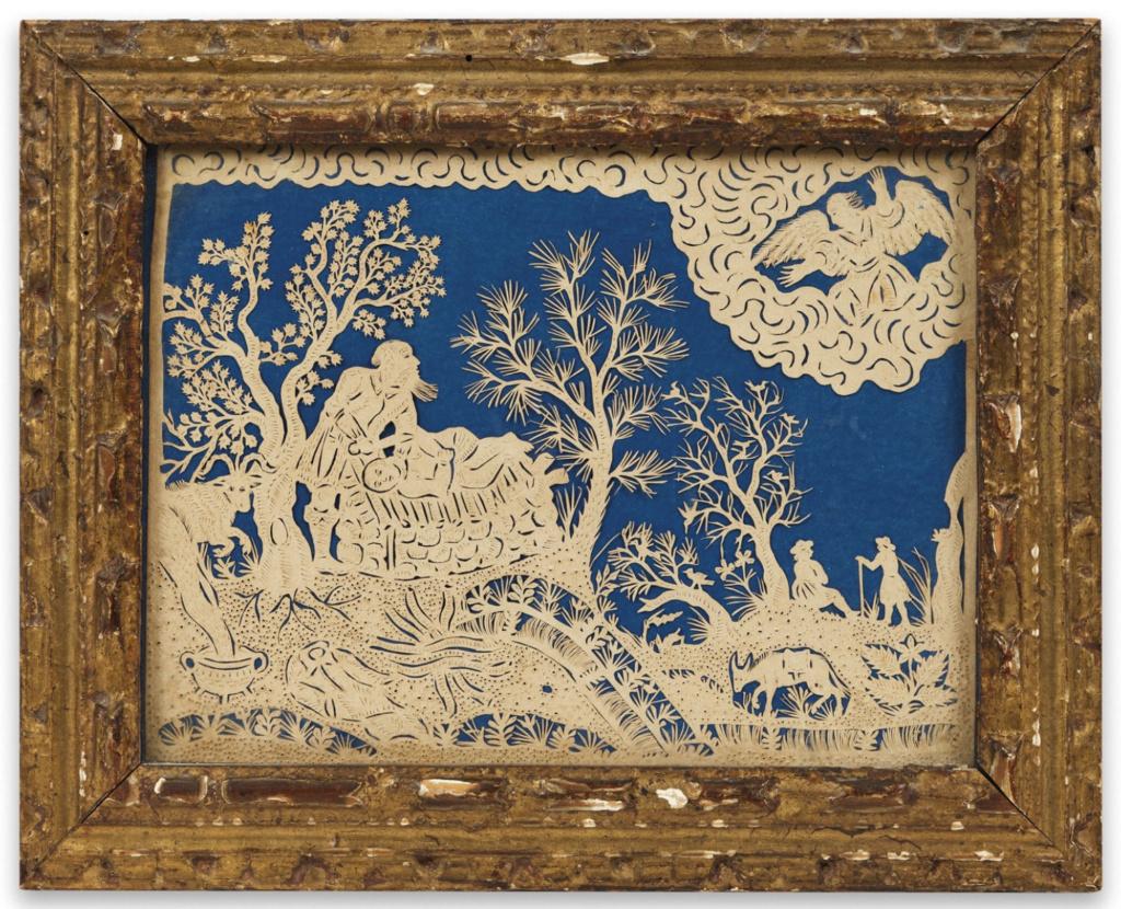 L'art des découpures au XVIIIe siècle : figures en papier découpé et canivets Capt1010
