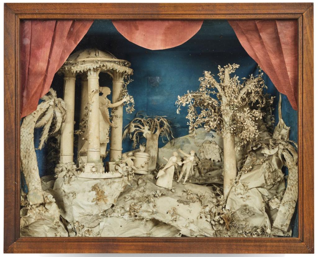 L'art des découpures au XVIIIe siècle : figures en papier découpé et canivets Capt1017