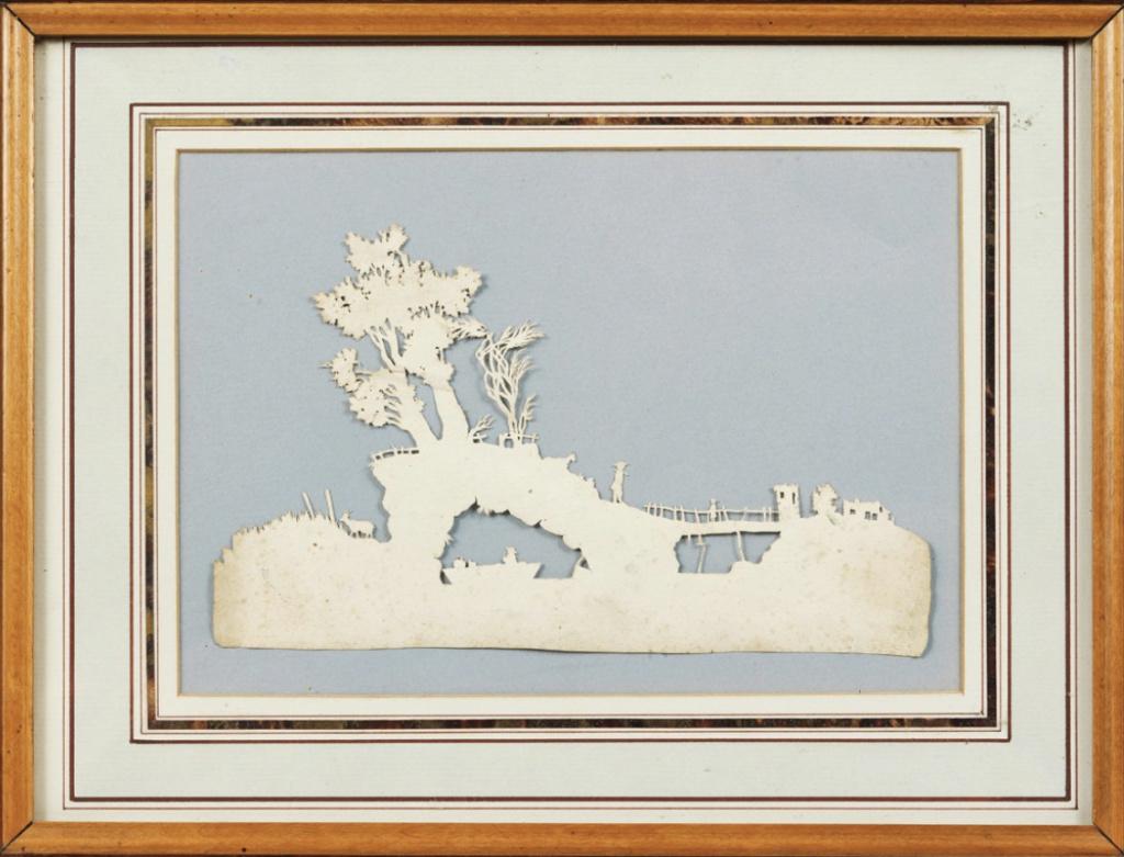 L'art des découpures au XVIIIe siècle : figures en papier découpé et canivets Capt1028