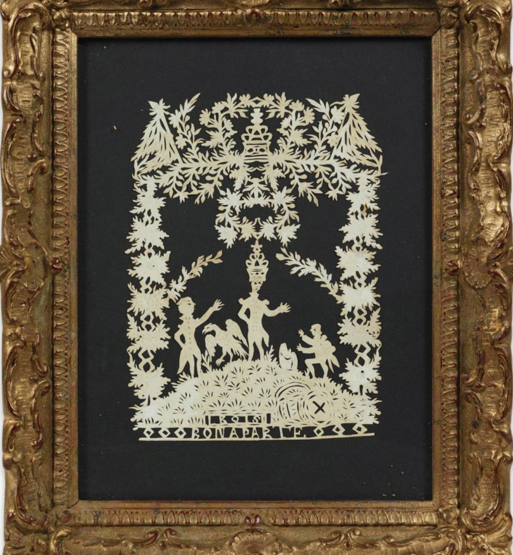 L'art des découpures au XVIIIe siècle : figures en papier découpé et canivets Capt1031