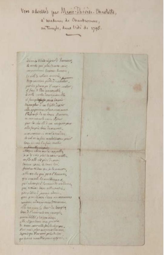Renée Hillaire de Chanterenne et Madame Royale (prison du Temple) Capt1132