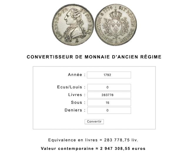 Prix, salaires et coût de la vie au XVIIIe siècle : convertisseur de monnaies d'Ancien Régime - Page 2 Capt1136