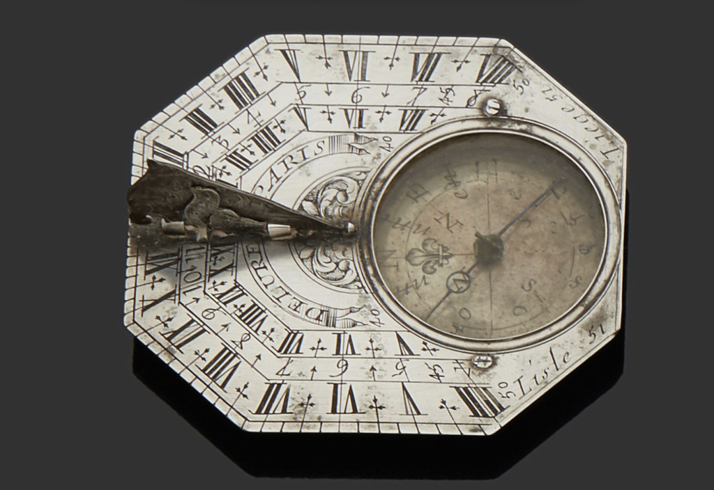 Latitudes et longitudes, les instruments de mesure du temps pour les voyages : chronomètre de marine, cadrans solaires et boussoles du XVIIIe siècle Capt1216