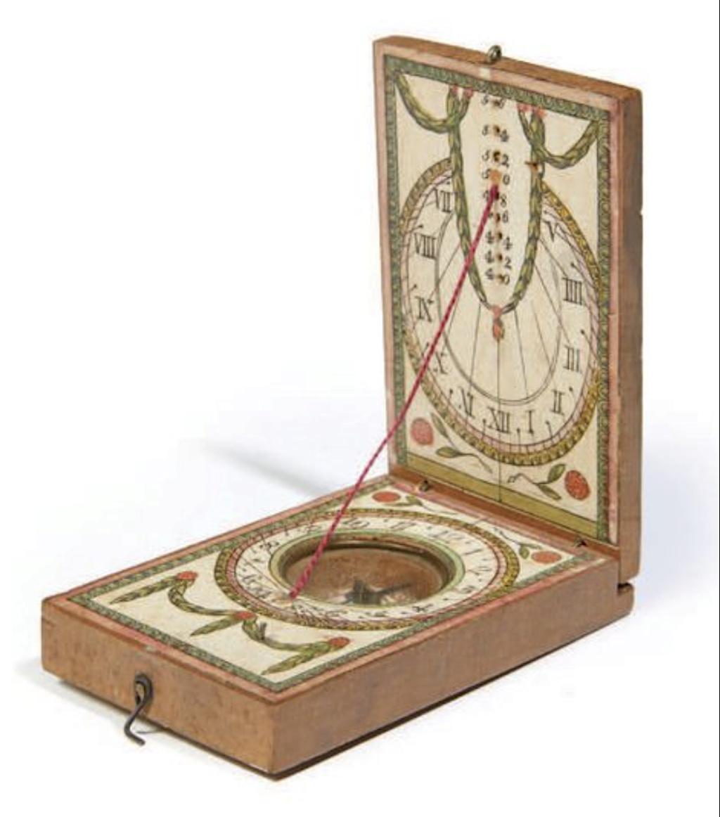 Latitudes et longitudes, les instruments de mesure du temps pour les voyages : chronomètre de marine, cadrans solaires et boussoles du XVIIIe siècle Capt1217