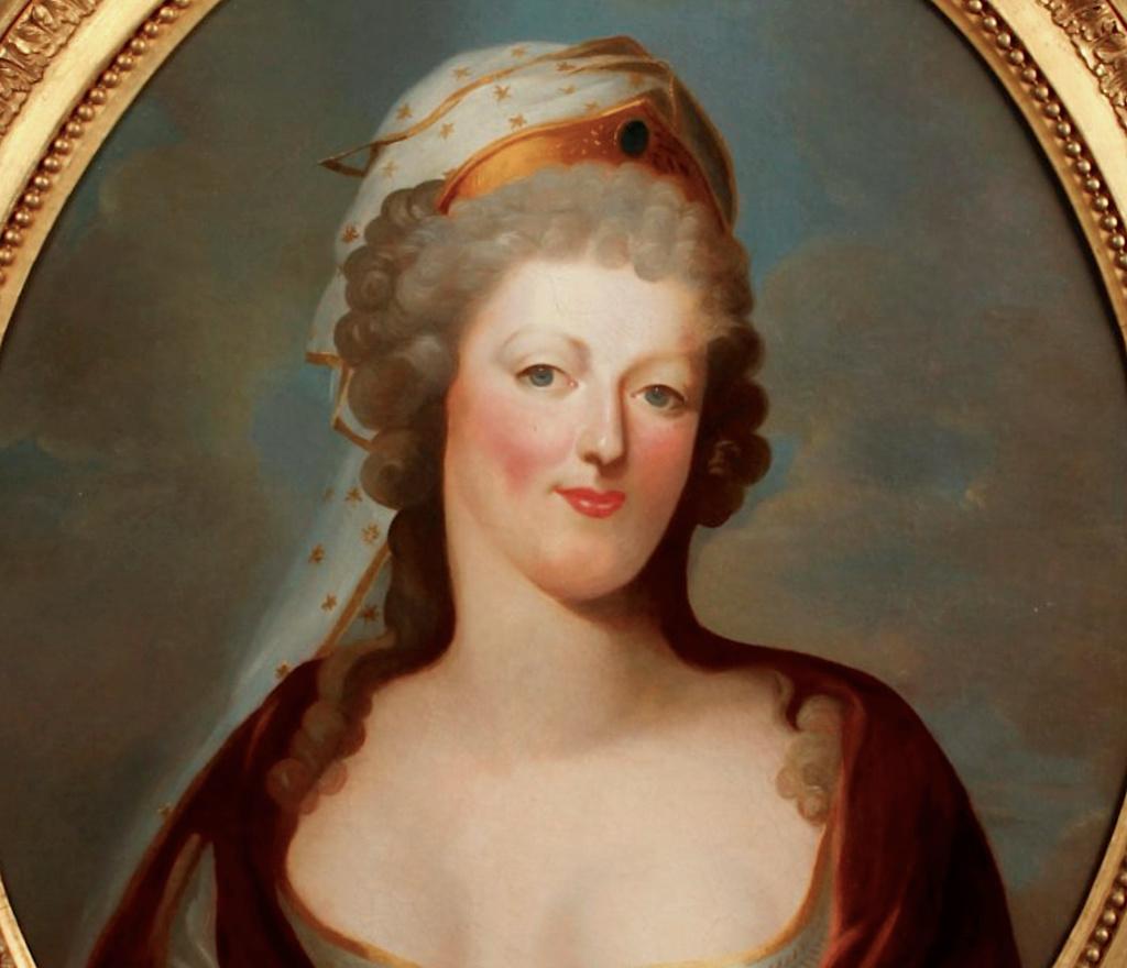 Portraits de Marie-Antoinette costumée à l'antique, ou en vestale, par et d'après F. Dumont  Capt1257