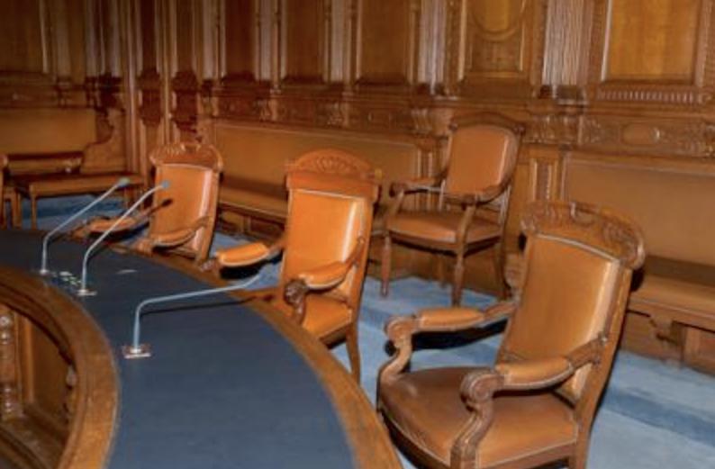 Le palais de Justice de L'île de la Cité, Paris, et la salle du Tribunal révolutionnaire Capt1269
