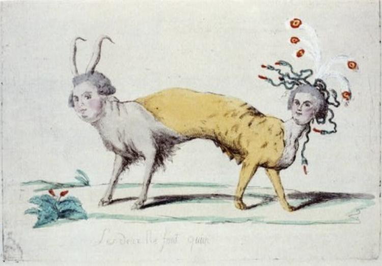 Marie-Antoinette, caricaturée en architigresse ou panthère autrichienne Capt1330