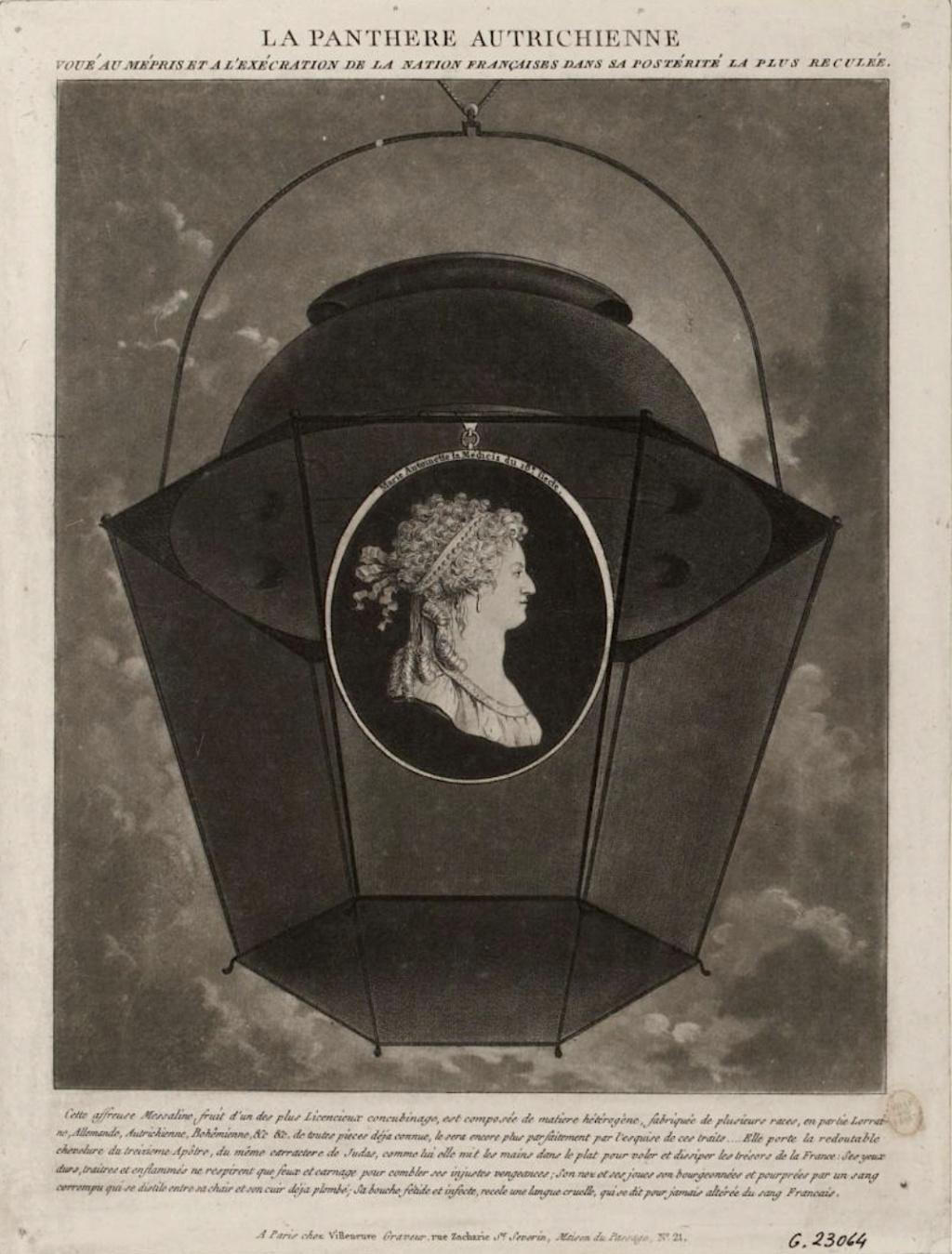 Marie-Antoinette, caricaturée en architigresse ou panthère autrichienne Capt1336