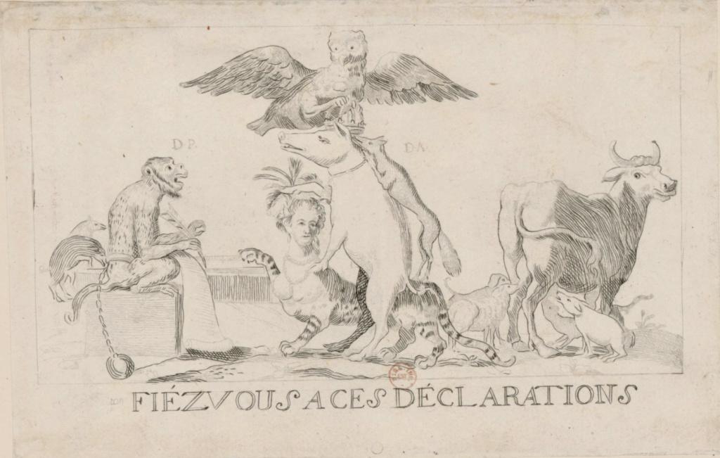 Marie-Antoinette, caricaturée en architigresse ou panthère autrichienne Capt1337