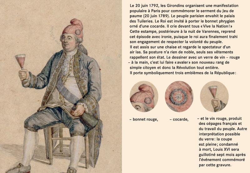 Louis XVI coiffé du bonnet phrygien Capt1381