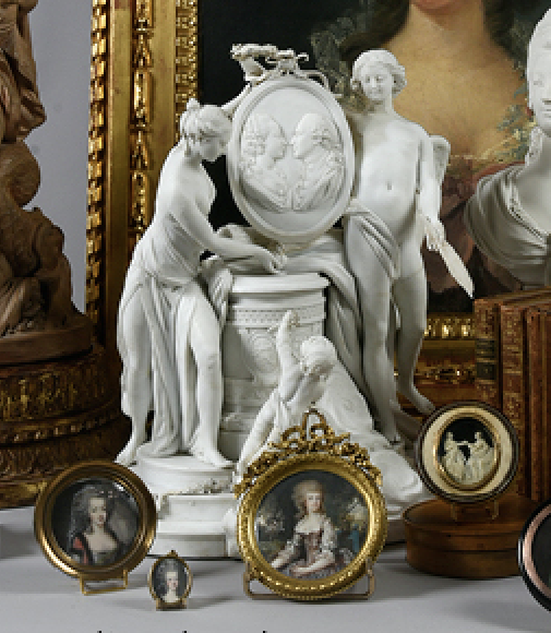 Marie-Antoinette : sujets allégoriques en porcelaine de la Courtine, Manufacture de Locré (Jean-Baptiste) Capt1444