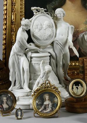 Marie-Antoinette : sujets allégoriques en porcelaine de la Courtine, Manufacture de Locré (Jean-Baptiste) Capt1445