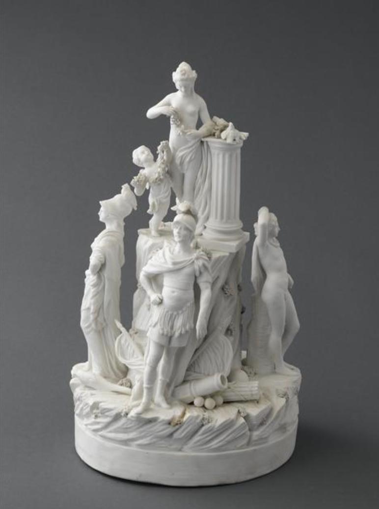 Marie-Antoinette : sujets allégoriques en porcelaine de la Courtine, Manufacture de Locré (Jean-Baptiste) Capt1448
