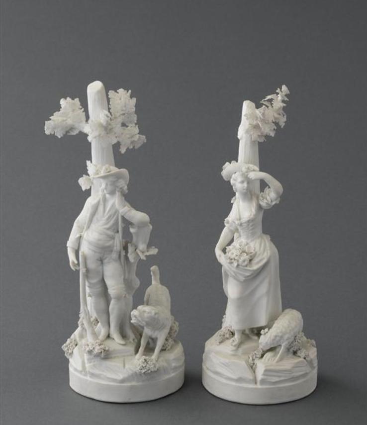 Marie-Antoinette : sujets allégoriques en porcelaine de la Courtine, Manufacture de Locré (Jean-Baptiste) Capt1449