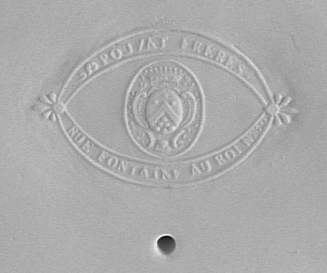 Marie-Antoinette : sujets allégoriques en porcelaine de la Courtine, Manufacture de Locré (Jean-Baptiste) Capt1451