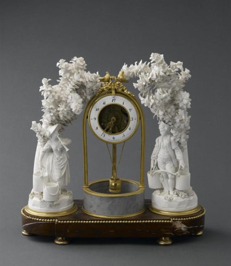 Marie-Antoinette : sujets allégoriques en porcelaine de la Courtine, Manufacture de Locré (Jean-Baptiste) Capt1452