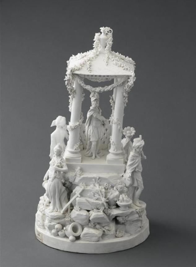 Marie-Antoinette : sujets allégoriques en porcelaine de la Courtine, Manufacture de Locré (Jean-Baptiste) Capt1453