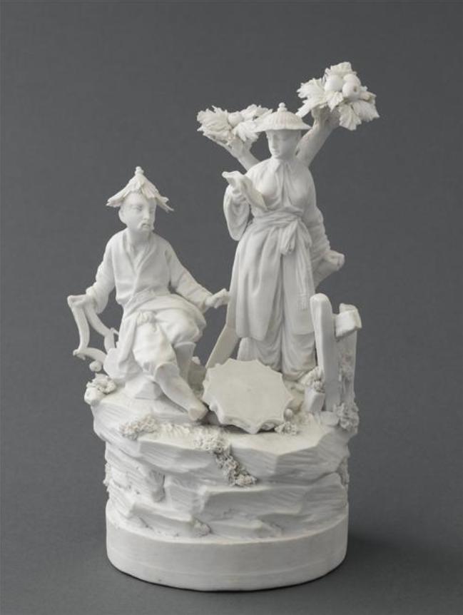 Marie-Antoinette : sujets allégoriques en porcelaine de la Courtine, Manufacture de Locré (Jean-Baptiste) Capt1454