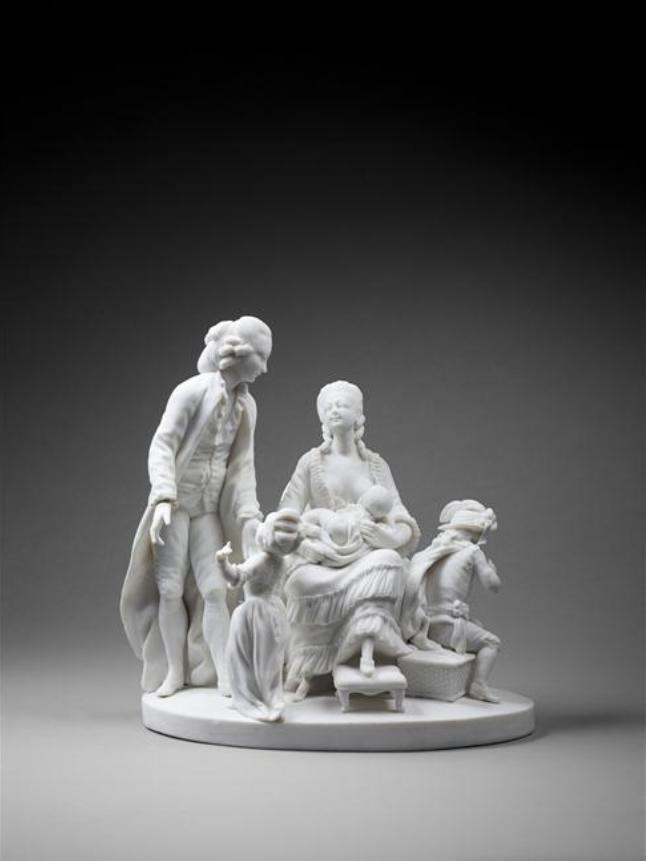 Marie-Antoinette : sujets allégoriques en porcelaine de la Courtine, Manufacture de Locré (Jean-Baptiste) Capt1455